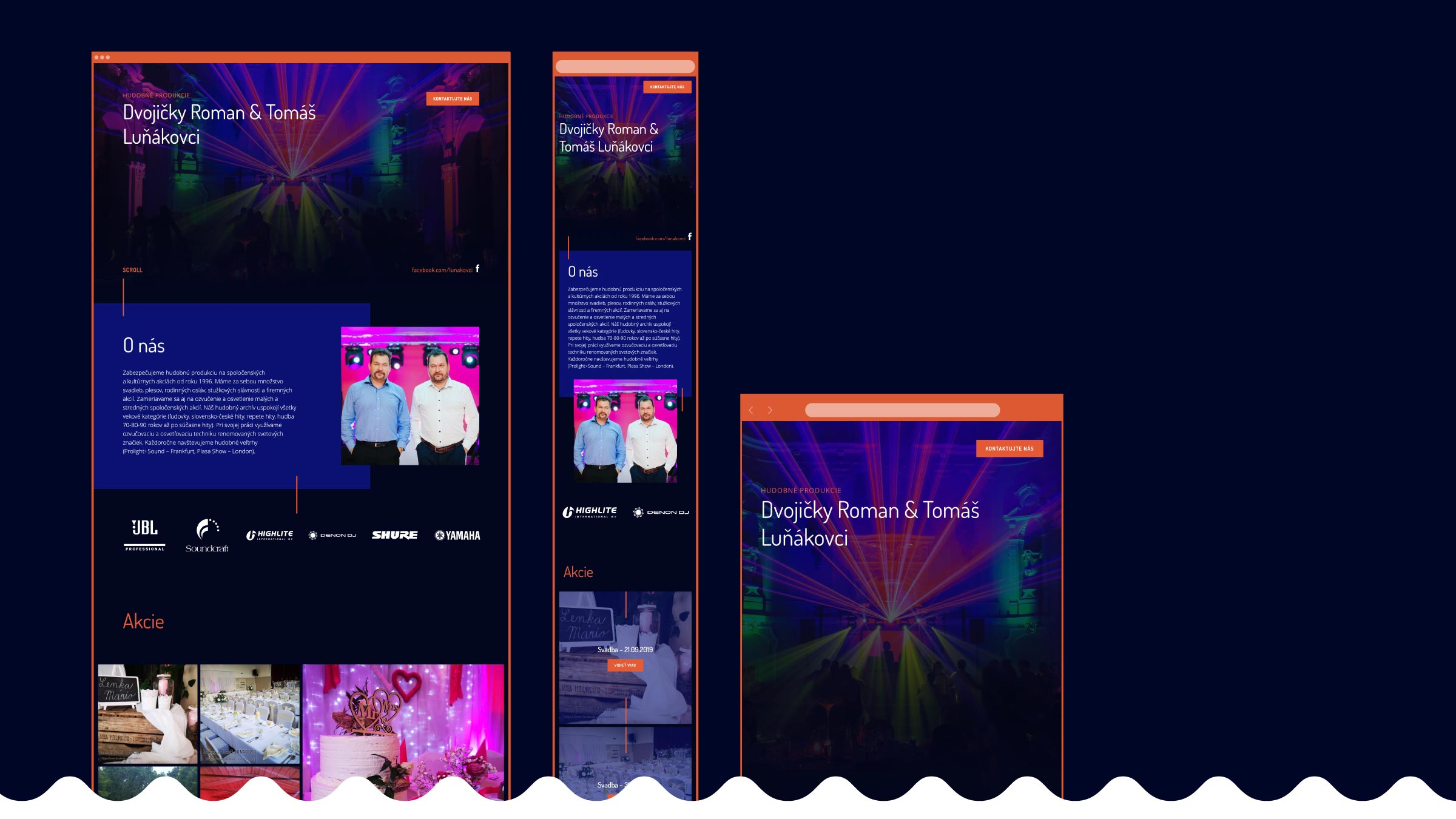 responzívny design, webdesign, prezentačný web, Dvojičky Roman & Tomáš Luňákovci, Via Creativity, viacreativity.sk