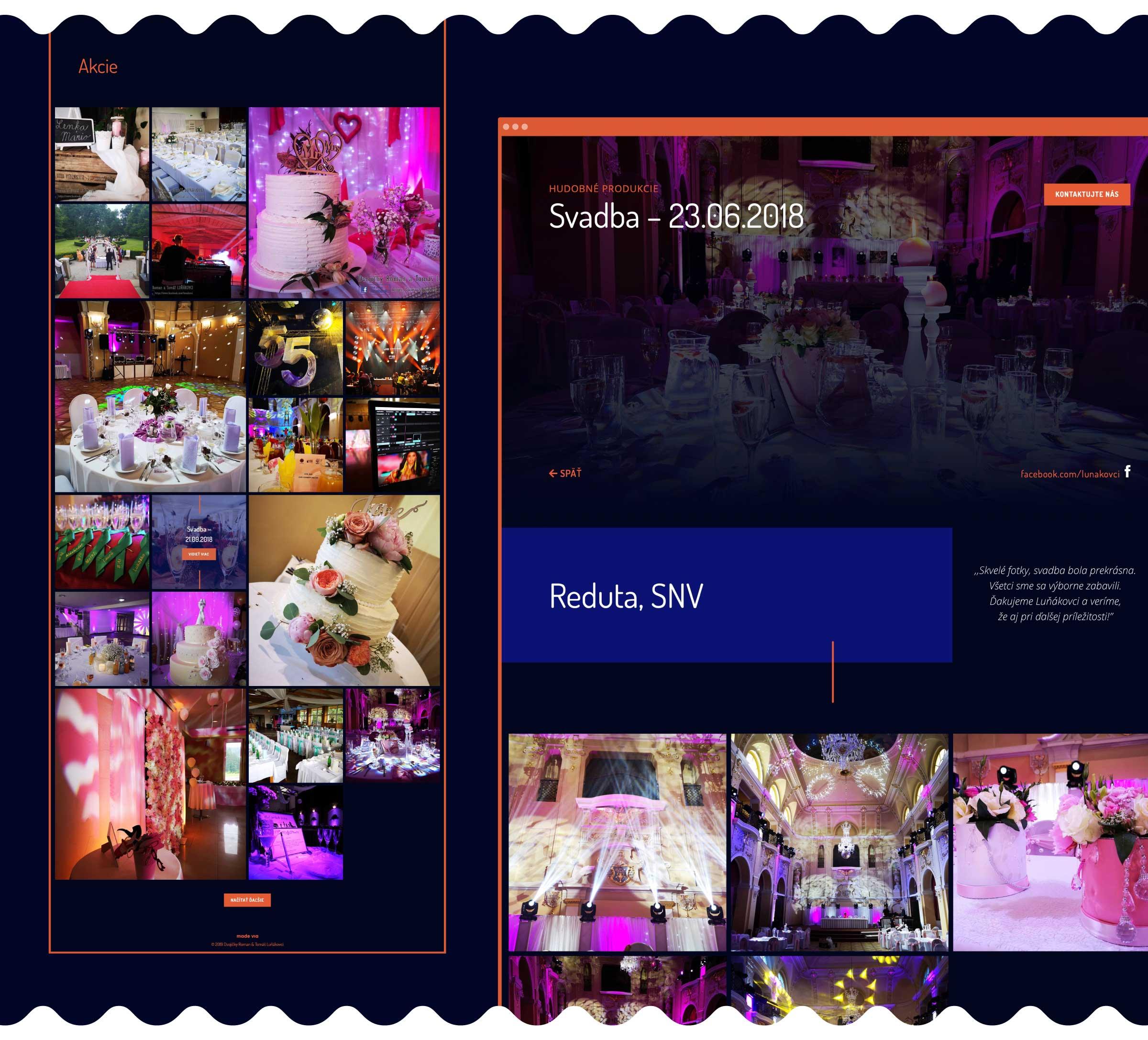jednoduchá microsite, webdesign, prezentačný web, Dvojičky Roman & Tomáš Luňákovci, Via Creativity, viacreativity.sk